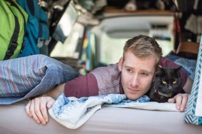 This Man And His Rescue Cat Have Traveled 31,000 Miles In Their Camper Van [Watch]
