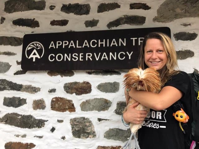 hiker finds lost rooster on appalachian trail carries him