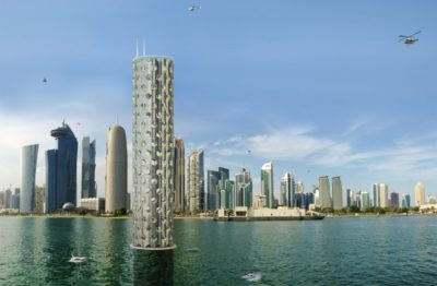 New Solar Vertical Skyscraper Design Embraces Rising Sea Levels