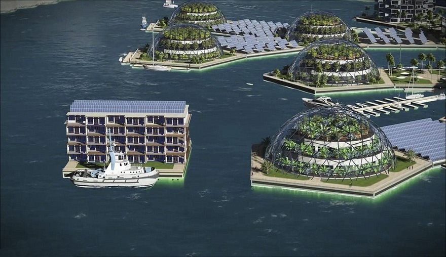 new paradigm, floating city,economy, environment, floating cities